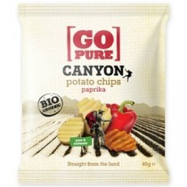 GO PURE - CHIPS CANYON ALLA PAPRIKA 40g