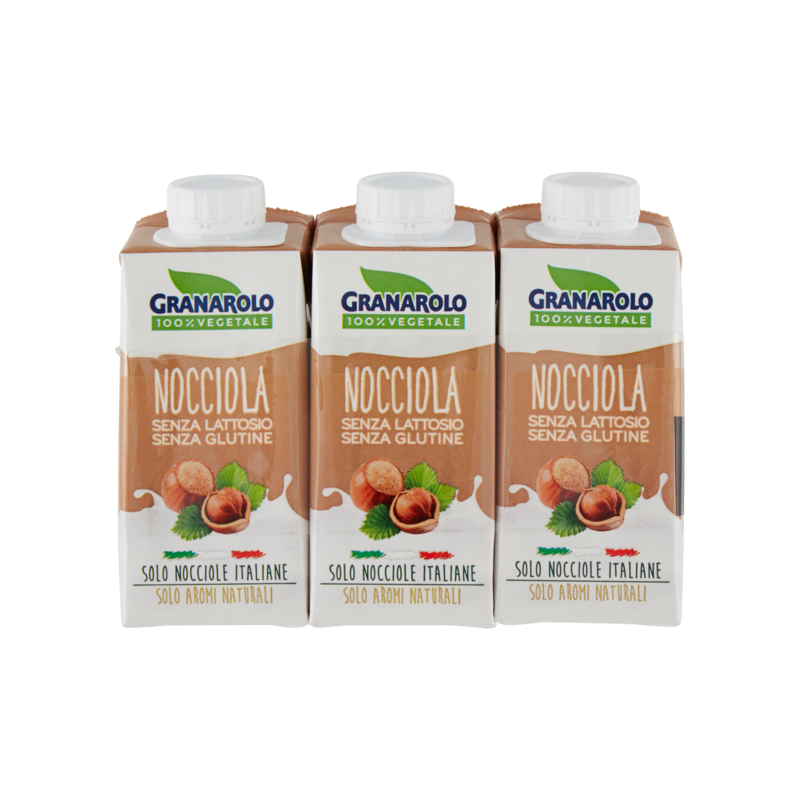 GRANAROLO '100% VEGETALE' - DRINK NOCCIOLA 3x200ml